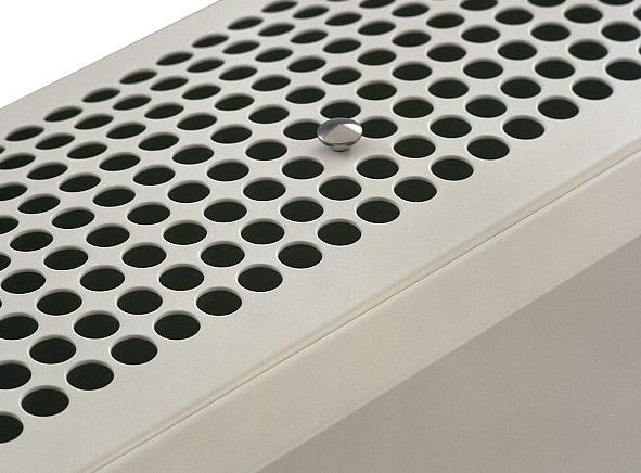 Directed heating or cooling thanks to adjustable discharge grille