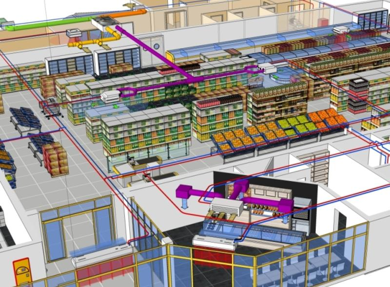Complete climate systems for supermarkets