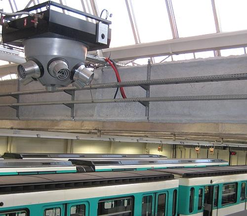 Optimal heating of high-ceilinged halls in stations