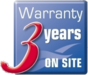 3 years warranty on site icon